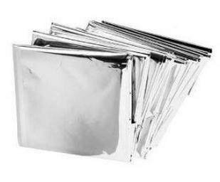 silver foil survival blanket
