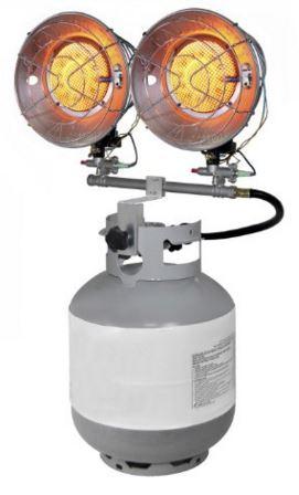 30000 BTU heater dual burner propane heater